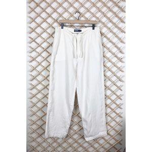 Ralph Lauren 100% Linen Tie Waist Pants